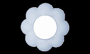 Cvet (belo / svetlo plavi)