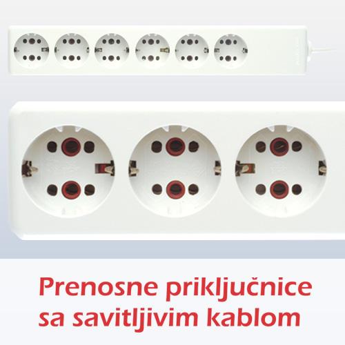Prenosne priključnice sa savitljivim kablom