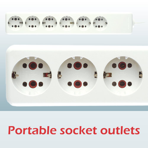 Portable socket outlets with flexible cable