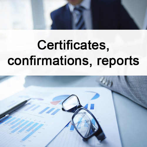 certificates-confirmations-reports