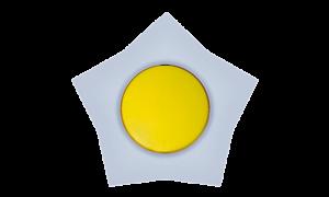 Zvezda (žuto / svetlo plava)